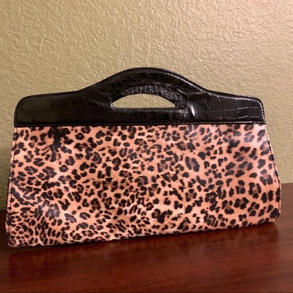 43c0fa6d899d Bags | Faux Leather Leopard Print Clutch | Poshmark